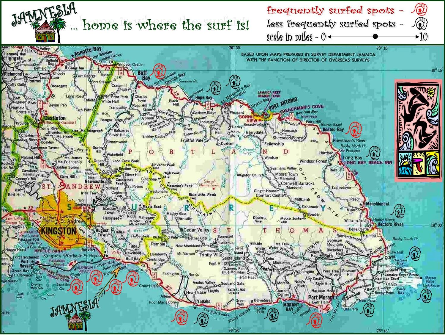 Eastern Jamaica-road-map Jamnesia 1